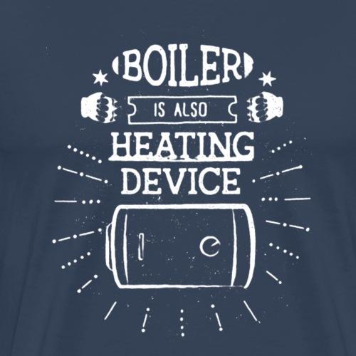 boiler z efektem final bialy - Koszulka męska Premium
