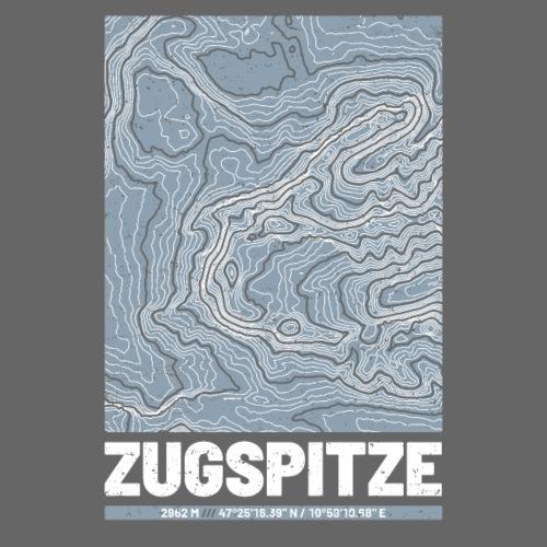 Zugspitze | Landkarte Topografie Grunge Design