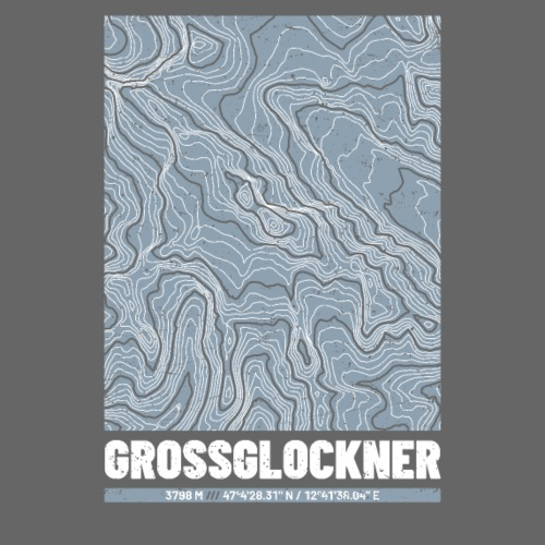 Großglockner | Landkarte Topografie Grunge Design