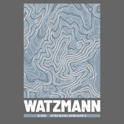 Watzmann | Landkarte Topografie Grunge Design