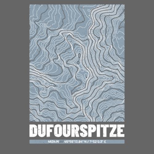 Dufourpitze | Landkarte Topografie Grunge Design