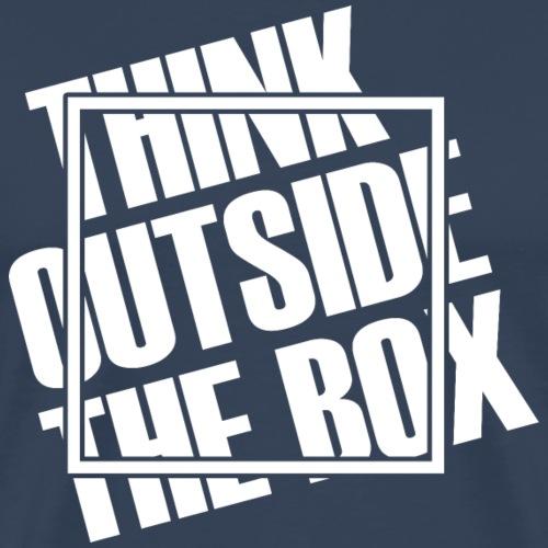 Think outside the box (dark) - Men's Premium T-Shirt