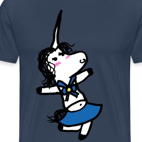 marinaio unicorno - Maglietta Premium da uomo