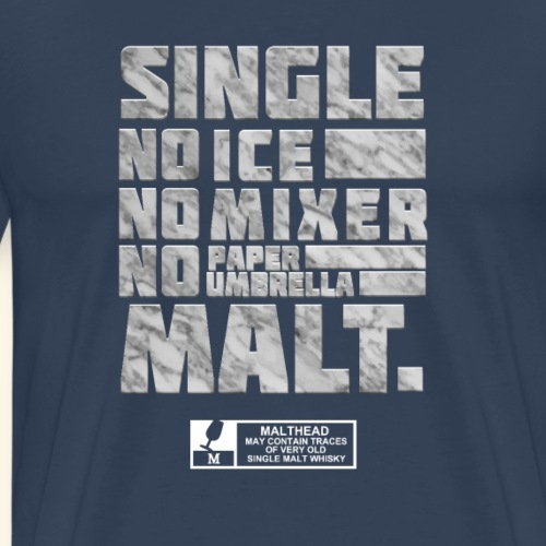 spassprediger.de presents: Single Malt, marble - Männer Premium T-Shirt