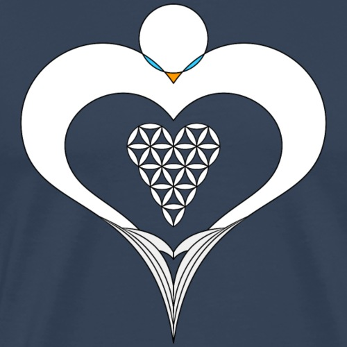 Heart Angel with The heart of Life - Drawing - Men's Premium T-Shirt