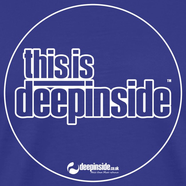 This is DEEPINSIDE Circle logo white