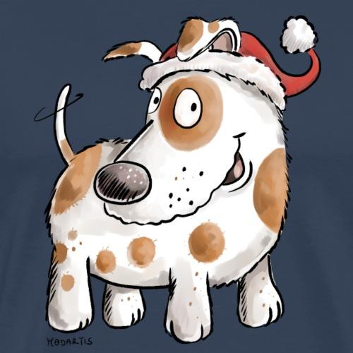 Weihnachtsmann Hund I Weihnachten Nikolaus - Männer Premium T-Shirt
