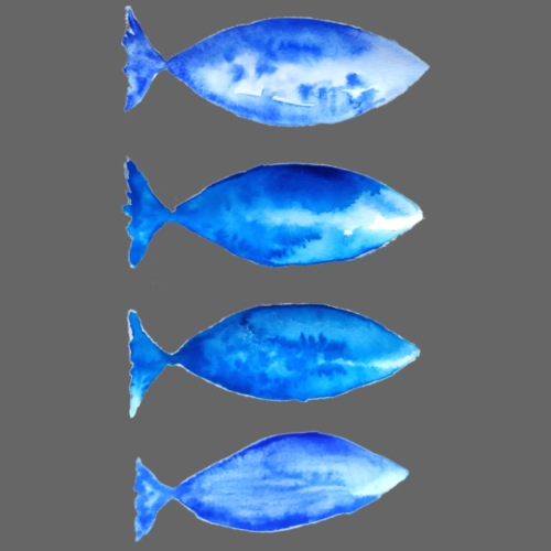 poissons bleus - T-shirt Premium Homme