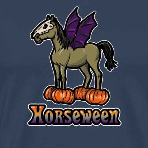 Horseween Horse Cadeau d'Halloween Drôle Coquine - T-shirt Premium Homme