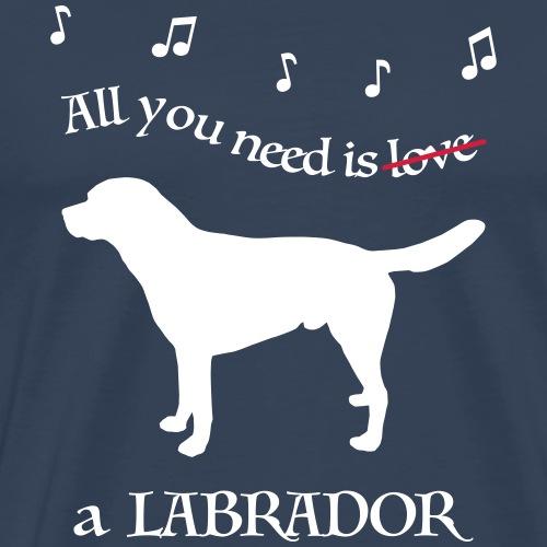 All you need is a Labrador - Männer Premium T-Shirt