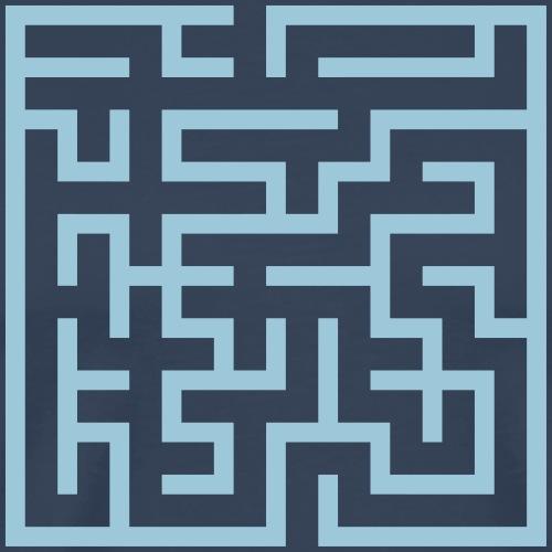 labyrinth-quadrat - Männer Premium T-Shirt