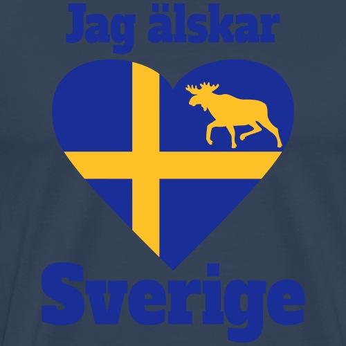 Sverige Schweden Sweden Herz - Männer Premium T-Shirt