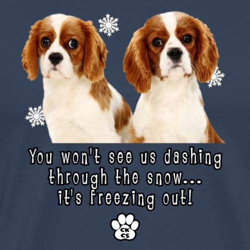 CKCS You won't see us dashing through the snow - Men's Premium T-Shirt