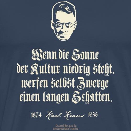 Karl Kraus Zitate T-Shirt | www.spassprediger.de - Männer Premium T-Shirt