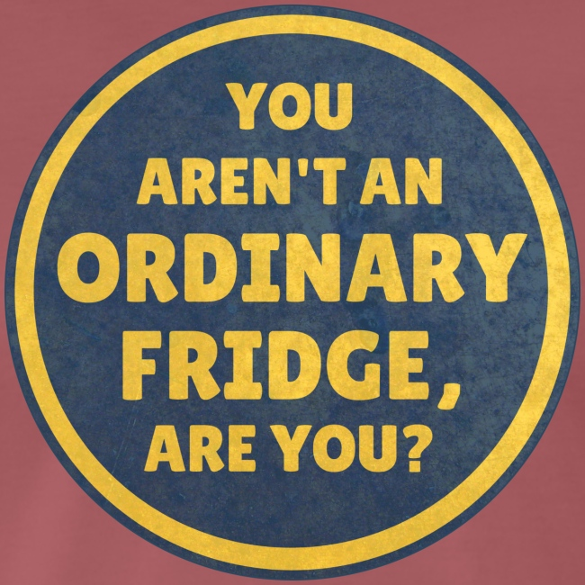 You aren't an Ordinary Fridge, are you?
