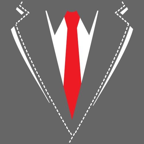 Vlinderdas of stropdas kostuum. - Mannen Premium T-shirt