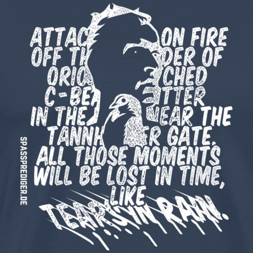 Tears in Rain - Männer Premium T-Shirt