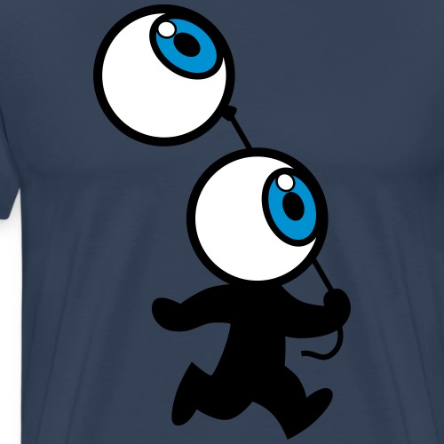 Mr Eyeball And Balloon by Cheerful Madness!! - Men's Premium T-Shirt