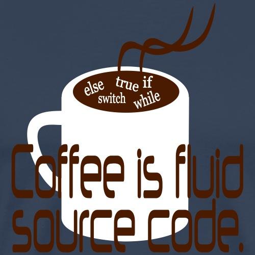 Coffee is source code - Männer Premium T-Shirt