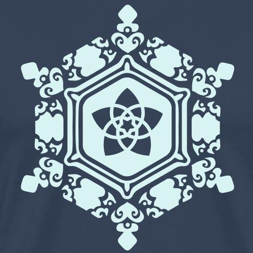 Wasserkristall Love mit Venusblume / Emoto - Männer Premium T-Shirt