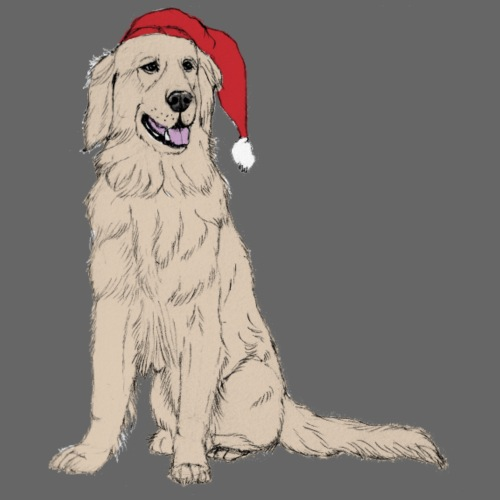 Golden Retriever Christmas - Herre premium T-shirt