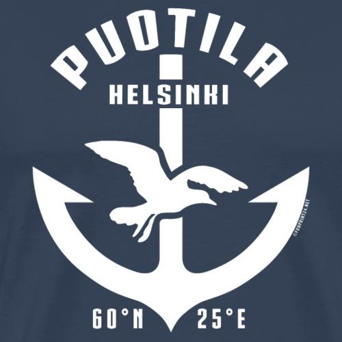 Puotila Helsinki Ankkuri tekstiilit ja lahjat, web - Miesten premium t-paita