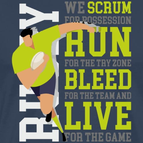MarPlo Scrum Run Live Green - Maglietta Premium da uomo