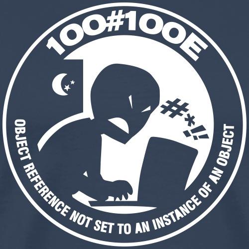 100#100E Black - Maglietta Premium da uomo