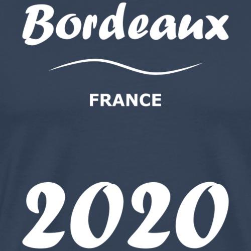 Bordeaux 2020, blanc - Men's Premium T-Shirt