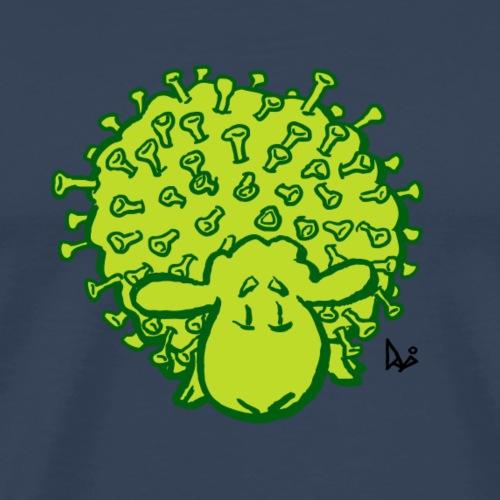 Virus får - Premium-T-shirt herr