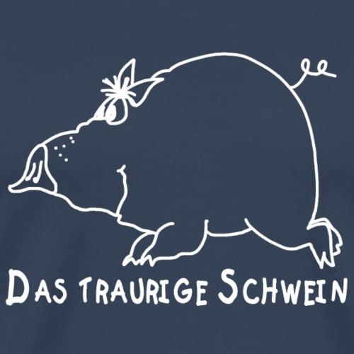 Das traurige Schwein - Männer Premium T-Shirt