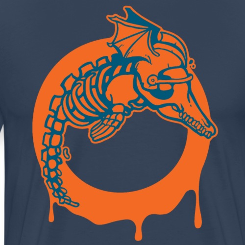 Reikland Undead Dolphins - orange Design - Männer Premium T-Shirt