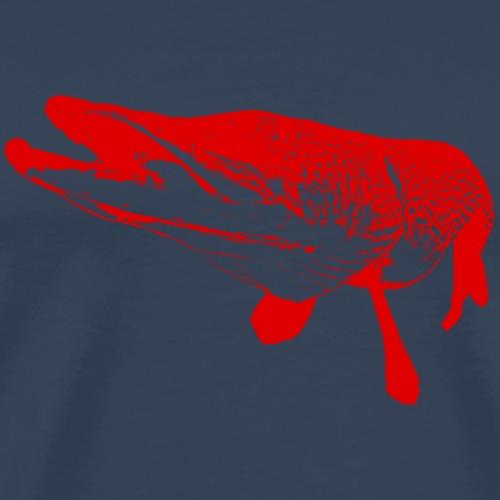 pike - red print - Men's Premium T-Shirt