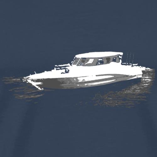 Fishing Boat White and Grey - Men's Premium T-Shirt