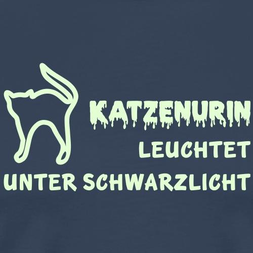 Katzenurin leuchtet unter Schwarzlicht - Männer Premium T-Shirt