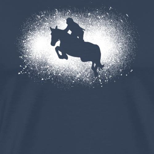 Show Jumping Grunge Tournament Idée Cadeau Cavalière - T-shirt Premium Homme