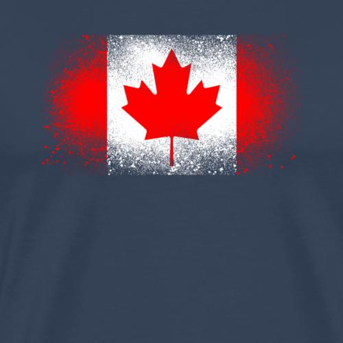 Kanada Grunge Flagge Kanadisch Quebec Geschenk - Männer Premium T-Shirt