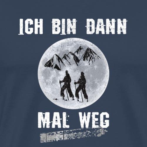 Skifahren Skifahrer ich bin dann mal weg T-Shirt - Männer Premium T-Shirt