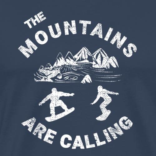 Snowboarden-The mountains are calling - Männer Premium T-Shirt