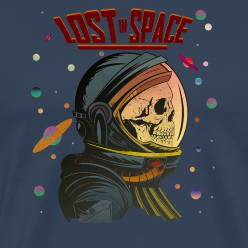 Lost In Space with Title and Stars - Mannen Premium T-shirt