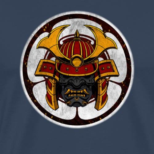 Samurai Crest Gray - Mannen Premium T-shirt