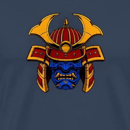 Samurai Head Blue - Mannen Premium T-shirt