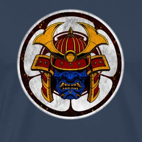 Samurai Crest Blue - Mannen Premium T-shirt
