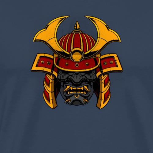 Samurai Head Gray - Mannen Premium T-shirt