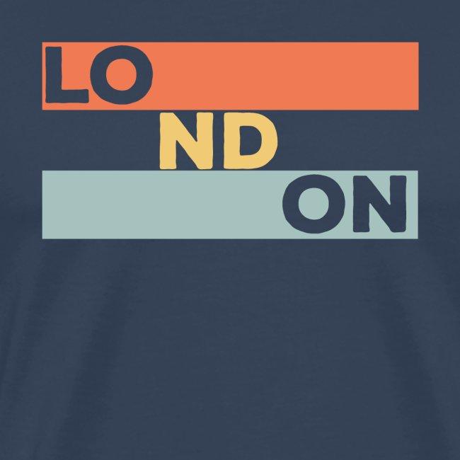 Vintage London Souvenir - Retro Streifen London