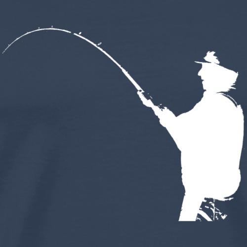 fishermen - white print - Men's Premium T-Shirt