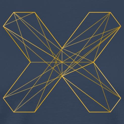 X outline orange korr - Männer Premium T-Shirt