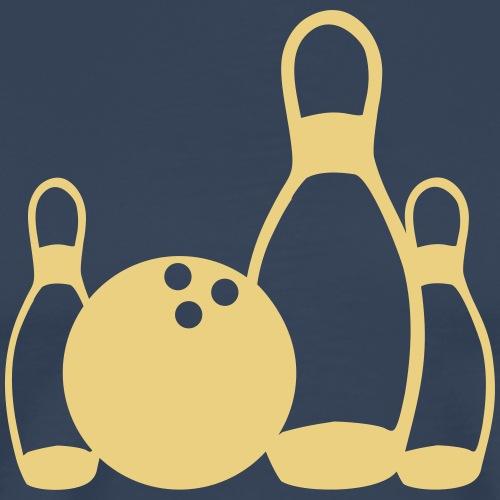 Bowling und Kegel T-Shirt - Männer Premium T-Shirt