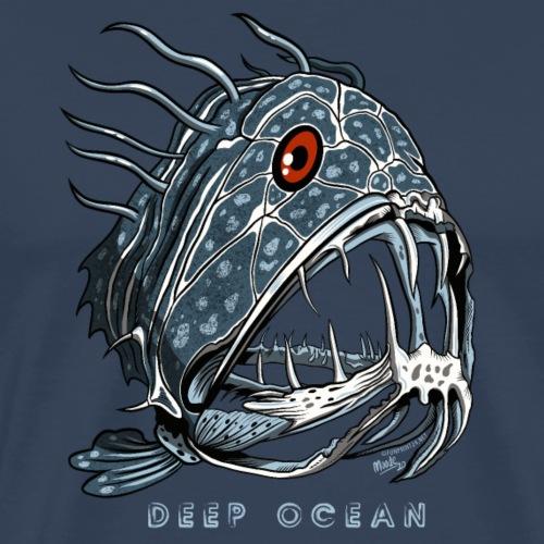 FANGTOOTH DEEP OCEAN FISH Cool Textiles, Gifts - Miesten premium t-paita