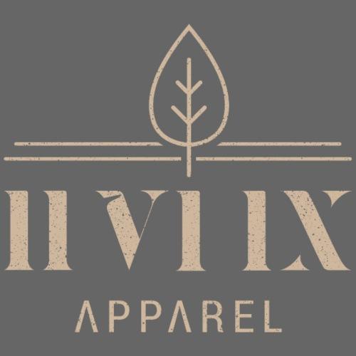 0X logo with grain leaf - Mannen Premium T-shirt